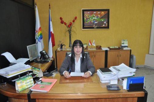 Lic. María Inés Saucedo, Gerente General de la Cooperativa San Lorenzo.