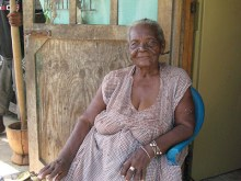 Garifuna Lady in Dangriga, Belize