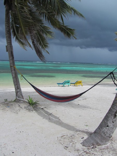 The beach at Tranquility Bay, North Ambergris Caye, Belize