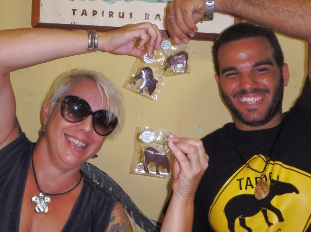 28 Two gorgeous people with chocolate tapirs