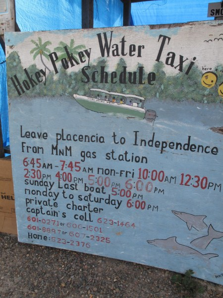 hokey-pokey-water-taxi-sign-and-schedule