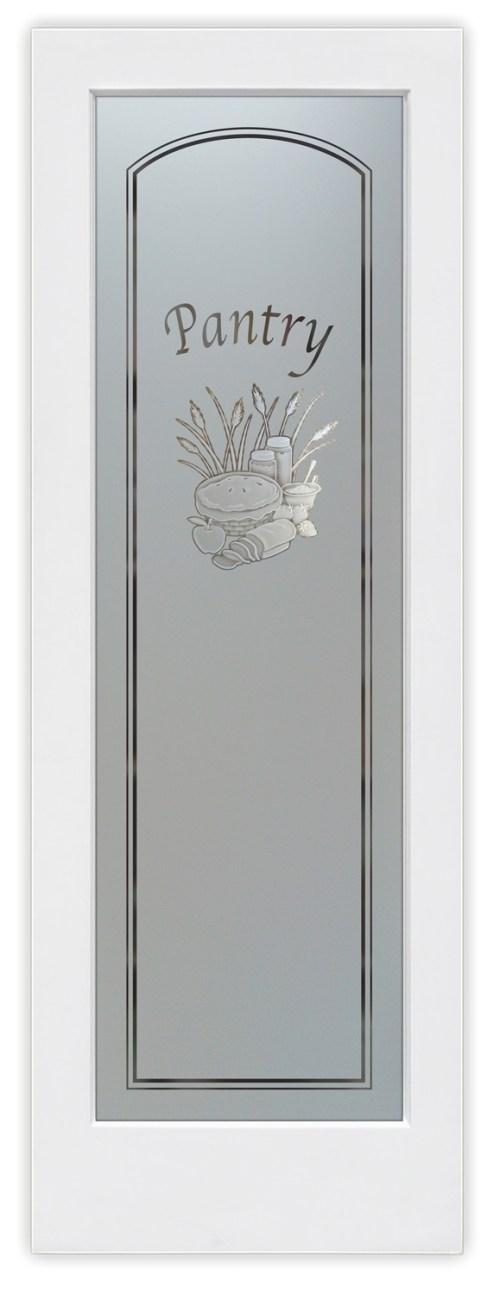Medium Of Glass Pantry Door