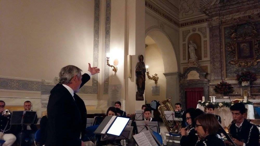 La banda di Anguillara Sabazia con il maestro Scatolini in concerto per noi!!!