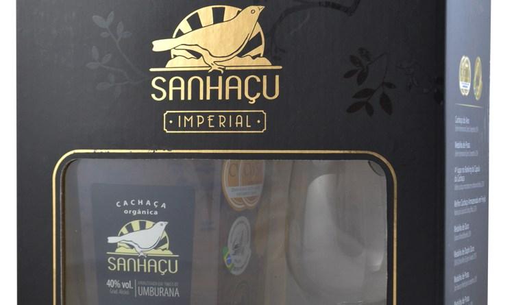 Kit Cachaça Sanhaçu com Taça Imperial
