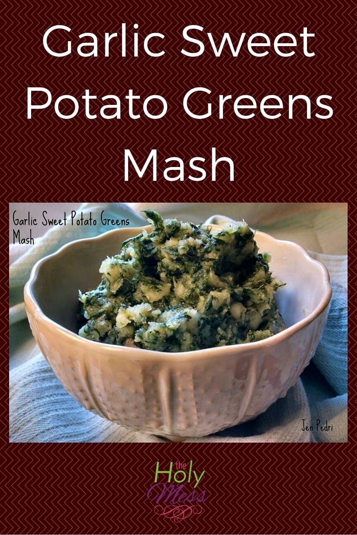 garlic sweet potato mash