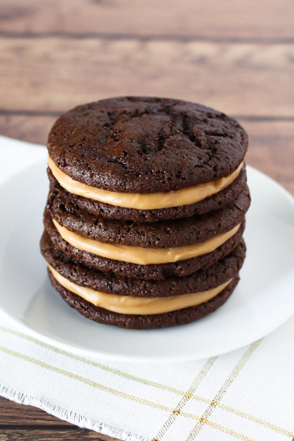 gluten free vegan chocolate peanut butter sandwich cookies