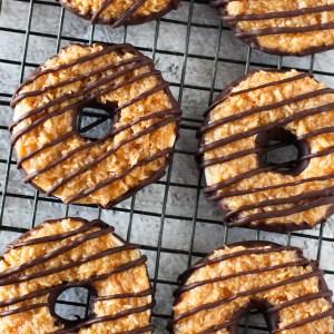 gluten free vegan samoa cookies