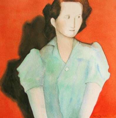 watercolor of woman