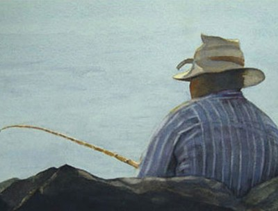 black man fishing