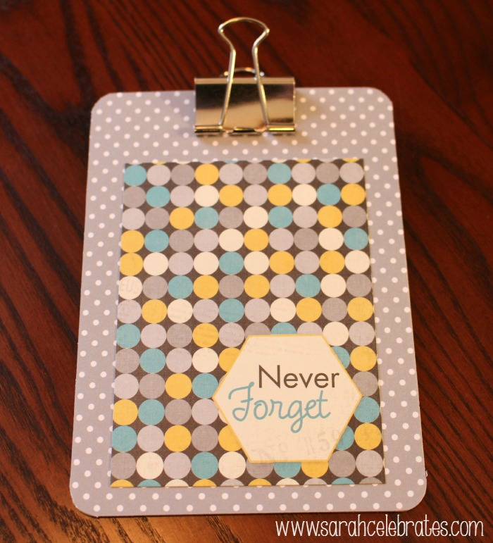 Mini Clipboards by Sarah Celebrates