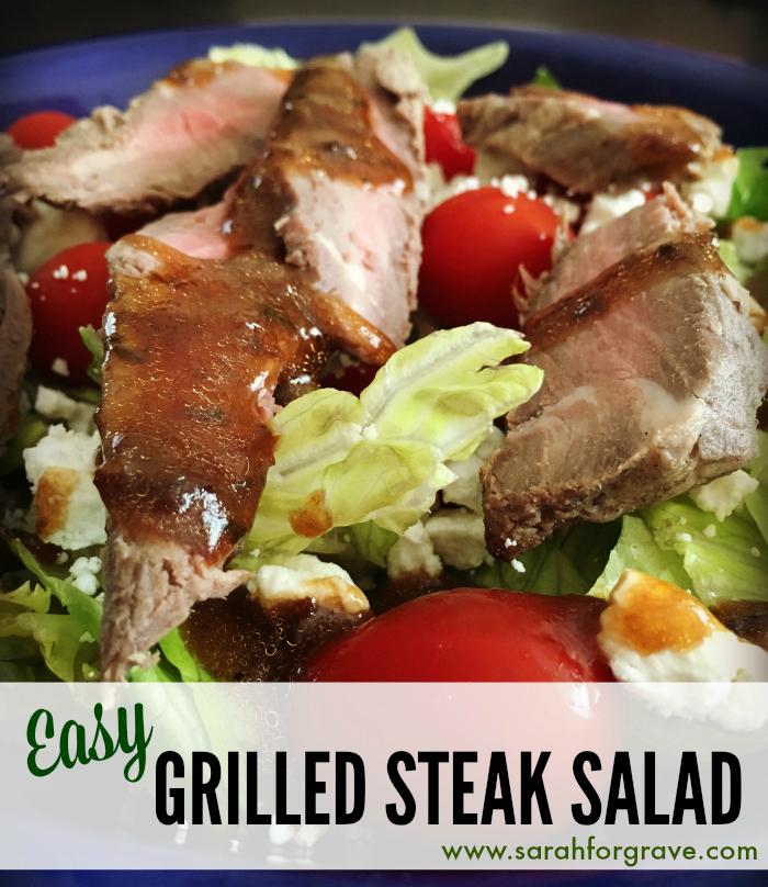 ... Feast Recipe Link-Up + Grilled Steak Salad Recipe - Sarah Forgrave