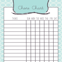 Chore Chart for Mommy's Little Helper
