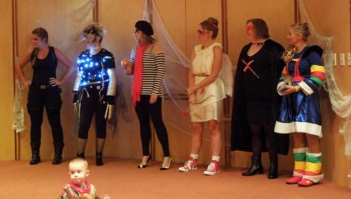Best Costume - Female | Lara Croft, Susie Scissorhands (Edward's Mother), French Kiss, Cupid, SSX Super Hero, Rainbow Brite