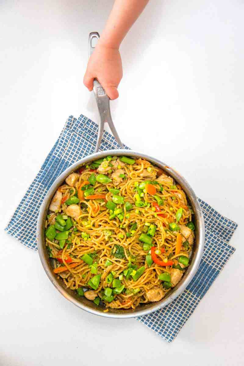 Large Of Noodles In The Pot