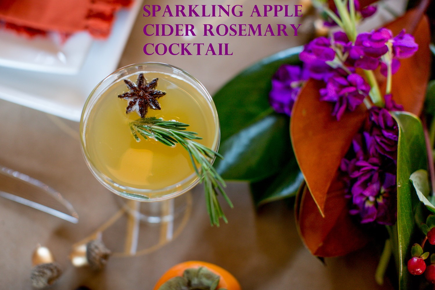 ... Apple Cider Rosemary Cocktail, which is a great alternative to the