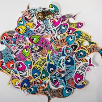 Stickers Multicolor Sardine of Marseille