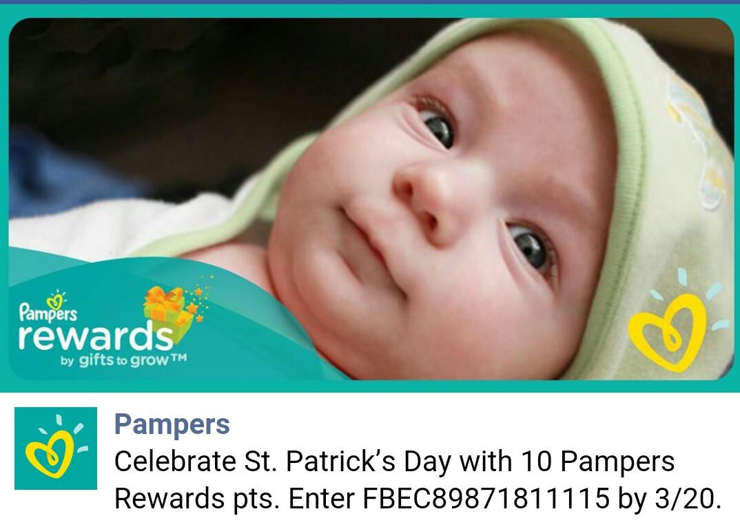 pampers rewards bonus codes