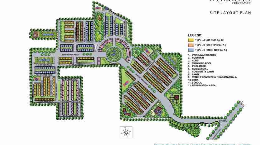 Omaxe Eternity Vrindavan Residential flats 1/2 BHK,