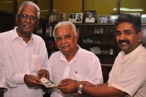 Dr. AT Ariyaratne, Mr. Mariappan and Professor Narayana Samy
