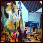 Music Man Bongo Bass and Upright Bass