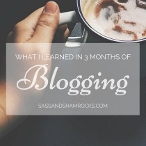 What I Learned in Three Months of Blogginh