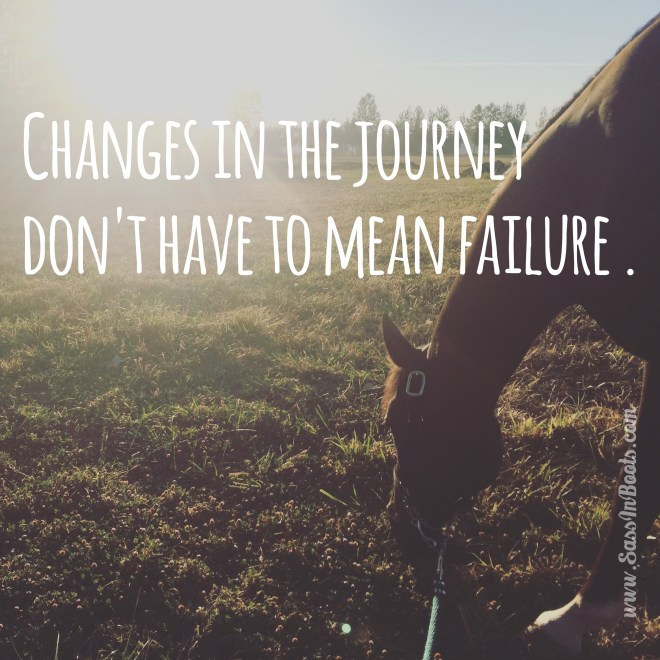 Changes in the journey don't mean failure