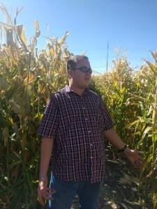 Lost in the corn maze!