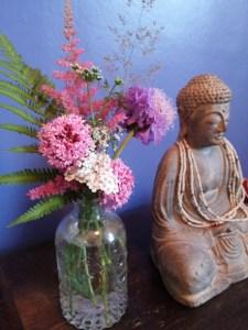 Flower and Buddha 180716