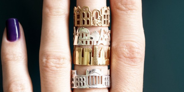 Shopping on Etsy: Travel Cityscape and Skyline Jewelry (Rings, Necklaces)