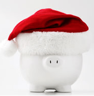 Christmas Saving Frugal Piggy