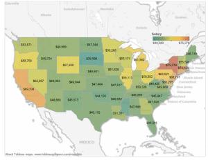 teacher salary map