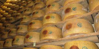 Parmigiano-Reggiano cheese wheels