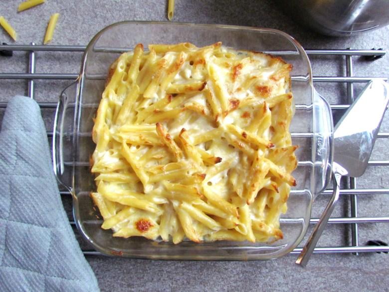 mozzarella pasta bake