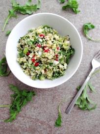 bulgur salad with herbs, pomegranate and pistachios   Savormania