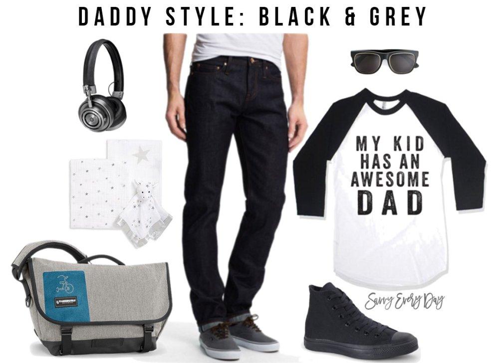 Daddy Style collage for black & grey fashion