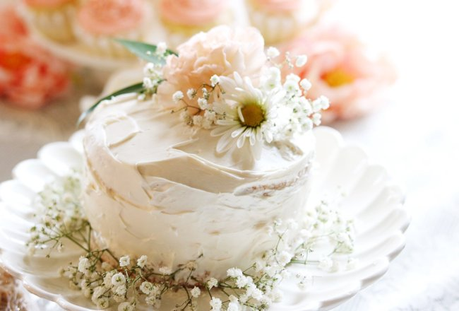 pretty cake close up