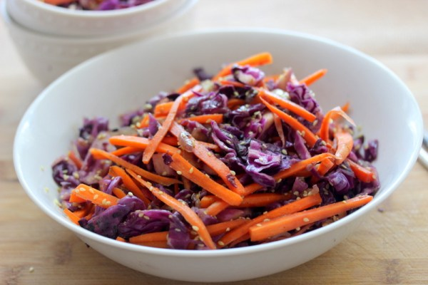 Sesame Carrot and Red Cabbage Stir Fry