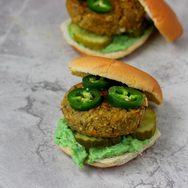 Jalapeño Veggie Burgers