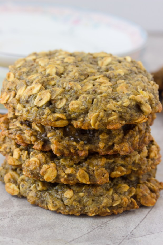 Banana Chia Breakfast Cookies