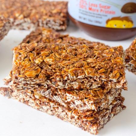 Honey and Hazelnut Butter Granola Bars (Giveaway)