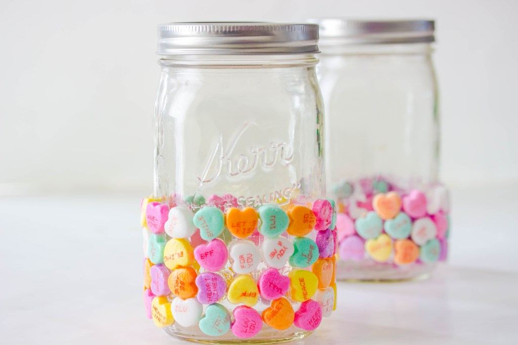 Valentines Day Candy Mason Jar