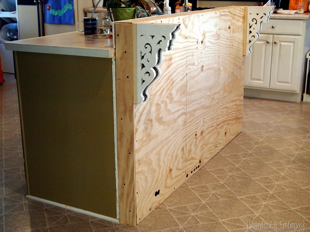 Adding a breakfast bar to an existing kitchen island Sawdust and Embryos