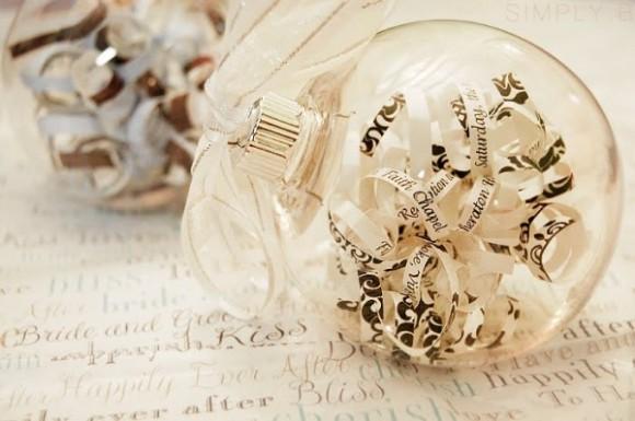 diy glass ball Christmas ornament