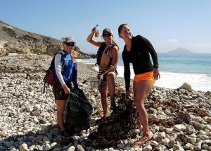 Amy and Guides at Channel Islands