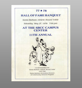 Santa Barbara Athletic Round Table 1978 Hall of Fame Banquet Cover