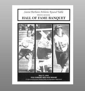 Santa Barbara Athletic Round Table 1994 Hall of Fame Banquet Cover