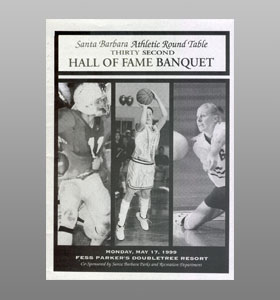 Santa Barbara Athletic Round Table 1999 Hall of Fame Banquet Cover