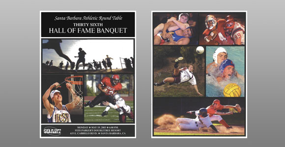 Santa Barbara Athletic Round Table 2003 Hall of Fame Banquet Cover