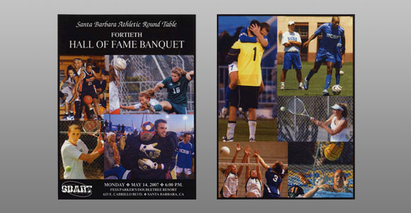 Santa Barbara Athletic Round Table 2007 Hall of Fame Banquet Cover