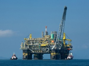 Semi-submersible oil platform, Brazil